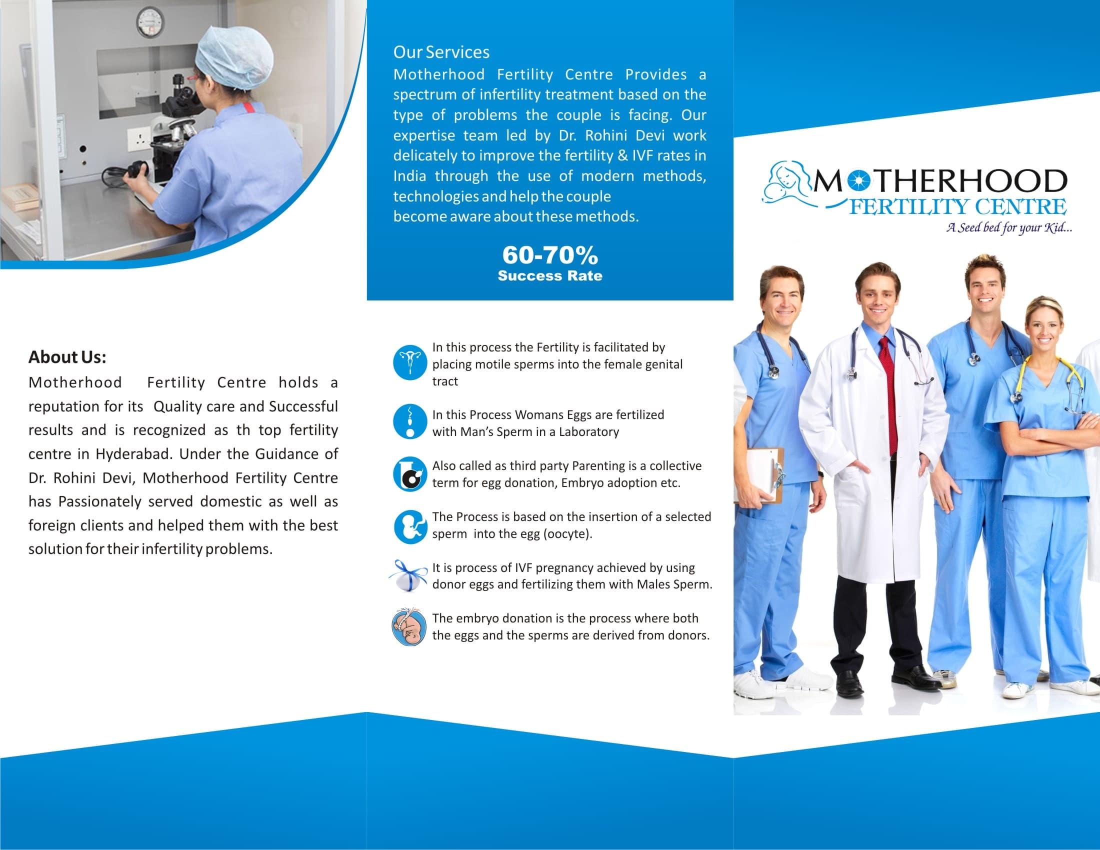 Broucher of motherhood infertility center